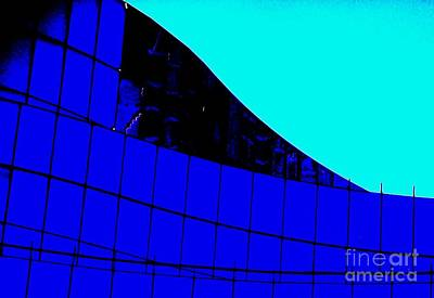 Painting - Blue Glass Abstract by Eric  Schiabor