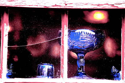 Photograph - Blue Glass by Emily Stauring