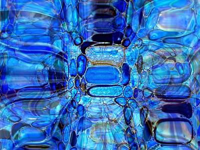 Art Print featuring the glass art Blue Glass  by Fania Simon