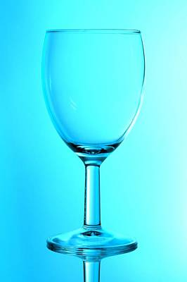 Photograph - Blue Glass by Keith Hawley