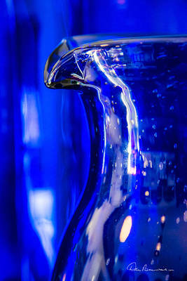 Dan Beauvais Royalty-Free and Rights-Managed Images - Blue Glass Pitcher 1839 by Dan Beauvais