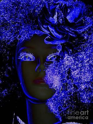 Digital Art - Blue Glow by Ed Weidman