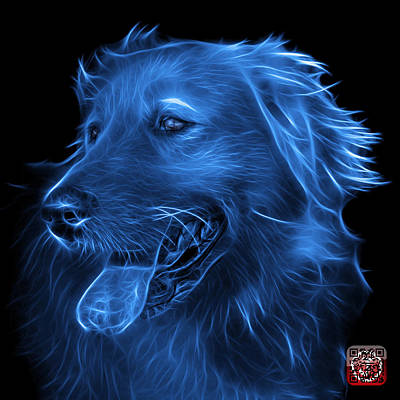 Digital Art - Blue Golden Retriever - 4057 Bb by James Ahn