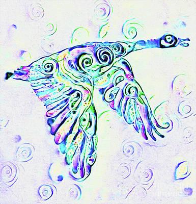 Photograph - Blue Goose Print by Nina Silver