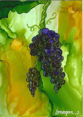 Painting - Blue Grapes by Gerry Morgan