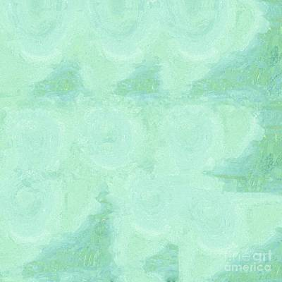 Three Painting - Blue Gray Cotton Fluff by Eloise Schneider