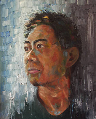 Oil Painting - Blue Gray by Kathleen Wong