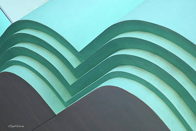 Photograph - Blue Green Abstract Architecture by Michelle Wiarda-Constantine