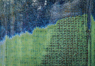 Photograph - Blue/green Abstract Two by David Waldrop