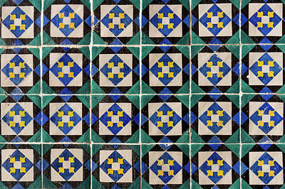 Photograph - Blue Green Lisbon Tiles Souvenirs by For Ninety One Days