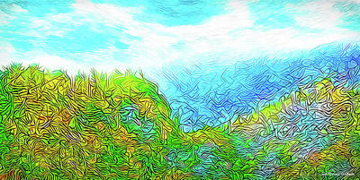 Digital Art - Blue Green Mountain Vista - Colorado Front Range View by Joel Bruce Wallach