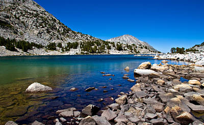 Turquoise Lake Photograph - Blue Green Treasure Lake by Chris Brannen