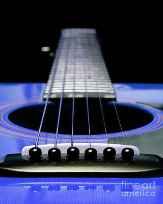Digital Art - Blue Guitar 14 by Andee Design
