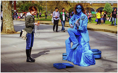 Photograph - Blue Guitarist  by Stewart Marsden