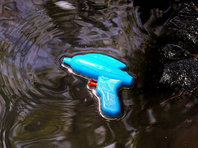 Photograph - Blue Gun by Julie Pappas