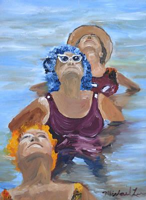 Blue Hairs Art Print
