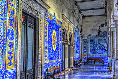 Photograph - Blue Hall Tles by Rick Bragan