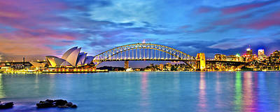 Sydney Skyline Photograph - Blue Harbour by Az Jackson