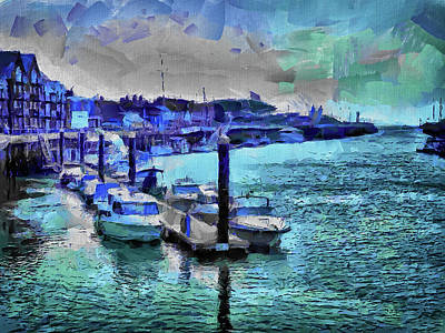 Digital Art - Blue Harbour by Leigh Kemp