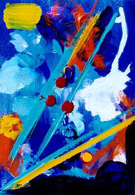 Blue Harmony  #128 Art Print by Donald k Hall