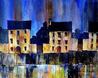 Painting - Blue Haven by Val Byrne