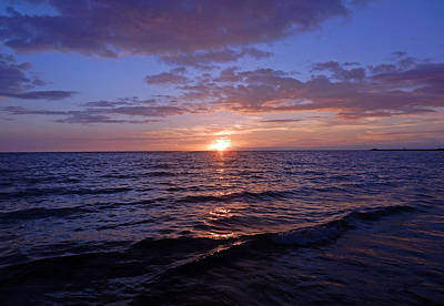 Photograph - Blue Hawaiian Sunset by Pamela Walton