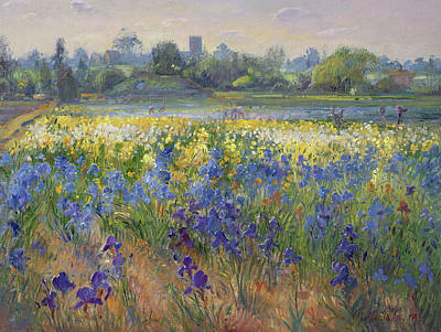 Field. Cloud Painting - Blue Haze At Burgate by Timothy Easton