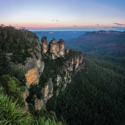 Photograph - Blue Haze At Sunrise At Ecco Point In Blue Mountains by Daniela Constantinescu