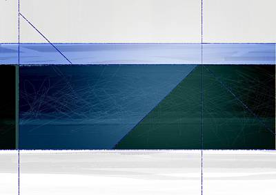 Geometric Form Painting - Blue Haze by Naxart Studio