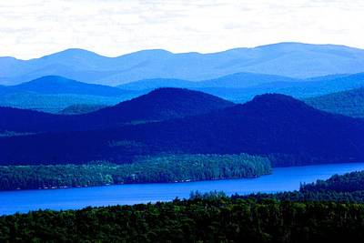 Photograph - Blue Haze Over Adirondack Mountains by Polly Castor