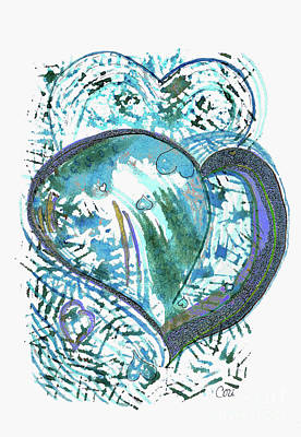Painting - Blue Heart by Corinne Carroll