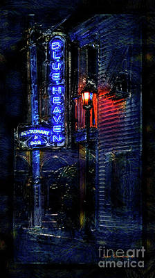 Photograph - Blue Heaven Florida Rendezvous Key West Bar by John Stephens