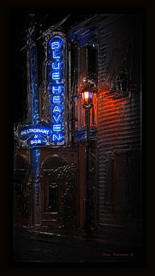 Photograph - Blue Heaven Rendezvous - Key West Bar - Florida by John Stephens