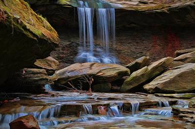 Akron Falls Photograph - Blue Hen Falls In Cuyahoga Valley National Park by Dan Sproul