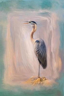 Photograph - Blue Heron At The Sea by Jai Johnson