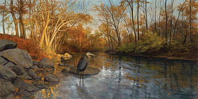 Blue Heron Original by David Henderson
