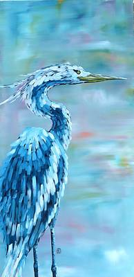 Painting - Blue Heron by Holly Donohoe
