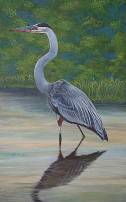 Painting - Blue Heron by Jeanette Jarmon