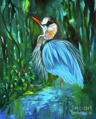 Painting - Blue Heron by Jenny Lee