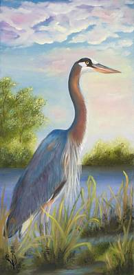 Painting - Blue Heron by Joni McPherson