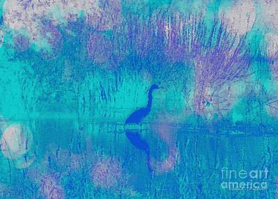 Photograph - Blue Heron by Kathie Chicoine