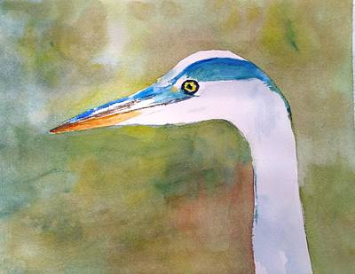 Painting - Blue Heron by Larry Hamilton