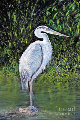 Painting - Blue Heron by Lyric Lucas