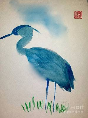 Painting - Blue Heron by Margaret Welsh Willowsilk