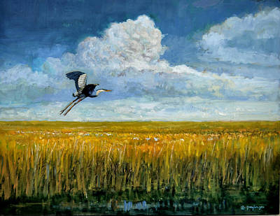 Painting - Blue Heron by Mel Greifinger