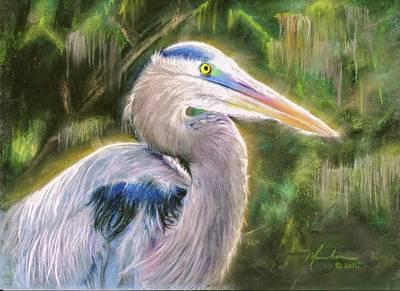 Pastel - Blue Heron by Melissa Herrin