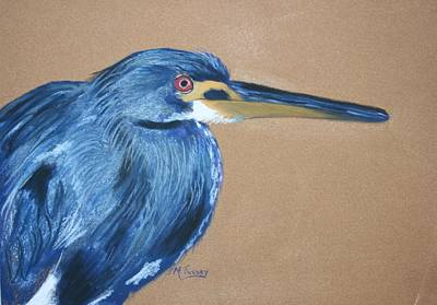Pastel - Blue Heron by Michele Turney