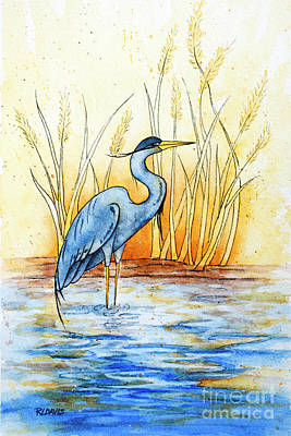 Painting - Blue Heron by Rebecca Davis