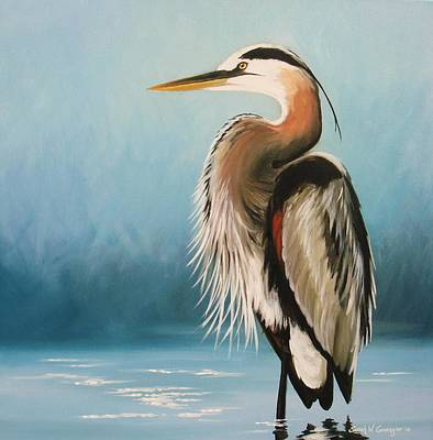 Painting - Blue Heron by Sarah Grangier