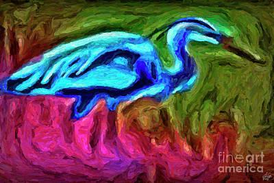 Art Print featuring the photograph Blue Heron by Walt Foegelle